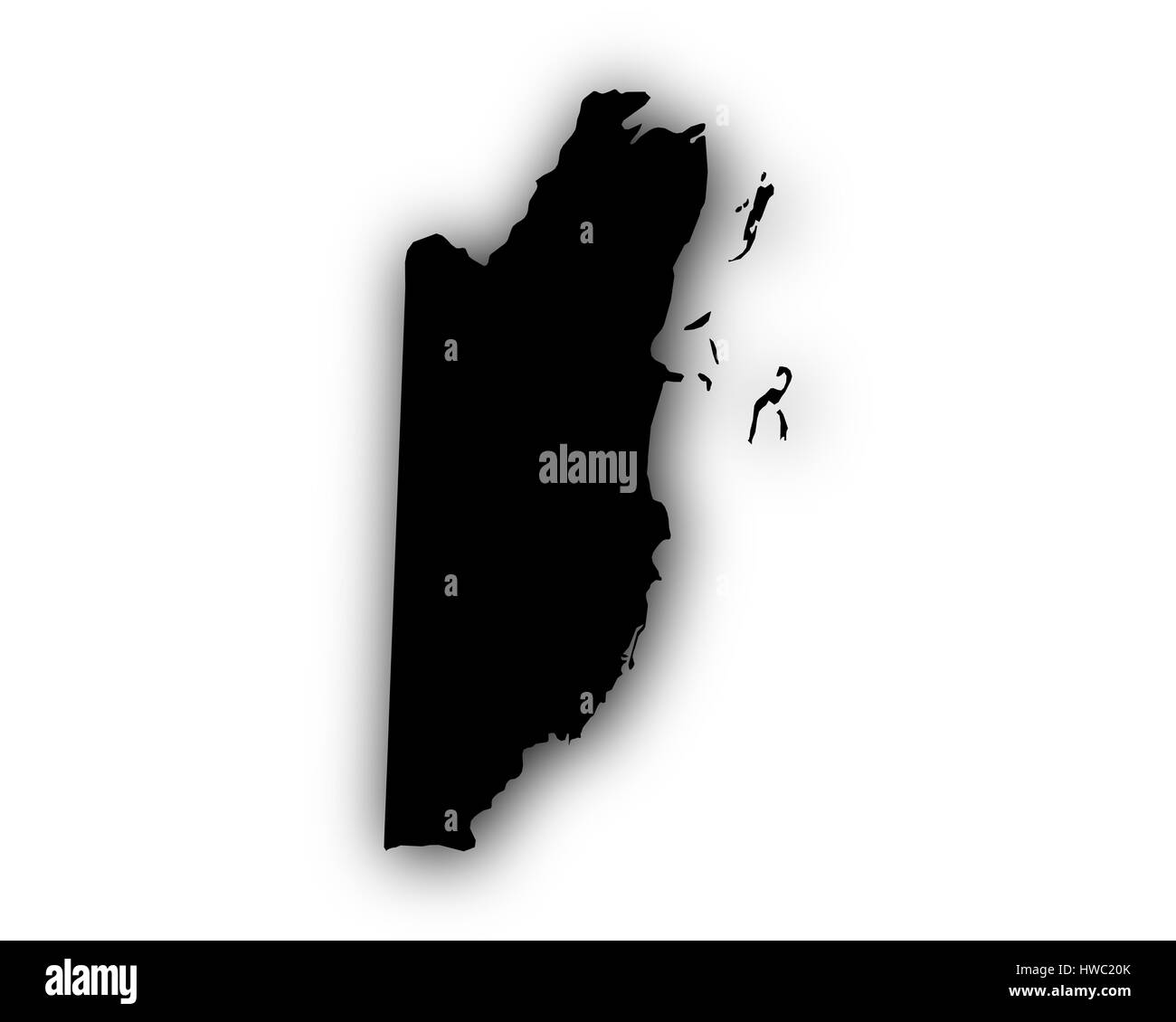 Map Belize Black and White Stock Photos & Images - Alamy