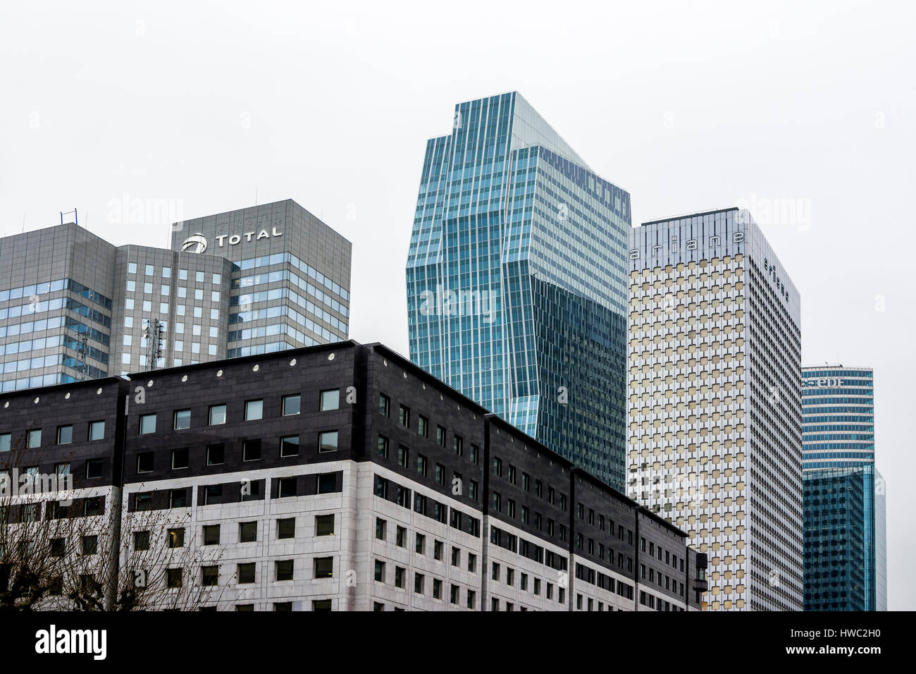 Financial district of La Defense. Paris. France - Stock Image