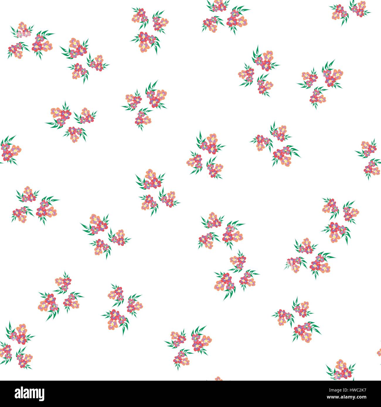 Trendy Seamless Floral Pattern In Vector Sweet Background For Textile Cotton Fabric Covers Wallpapers Print Gift Wrap And Scrapbooking