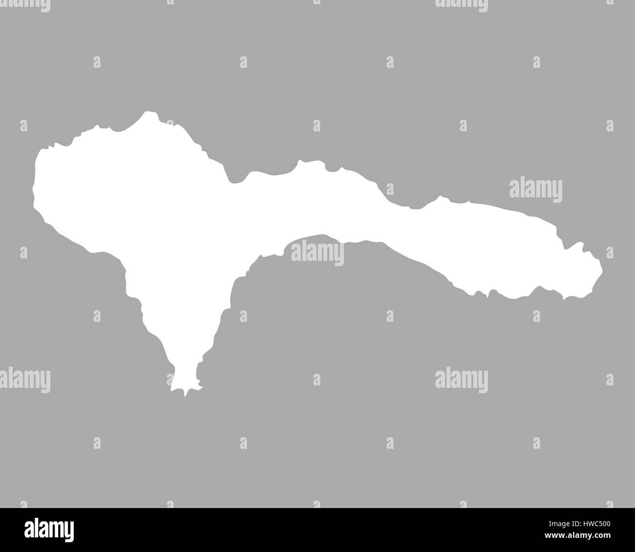 Map of Sao Nicolau Stock Photo