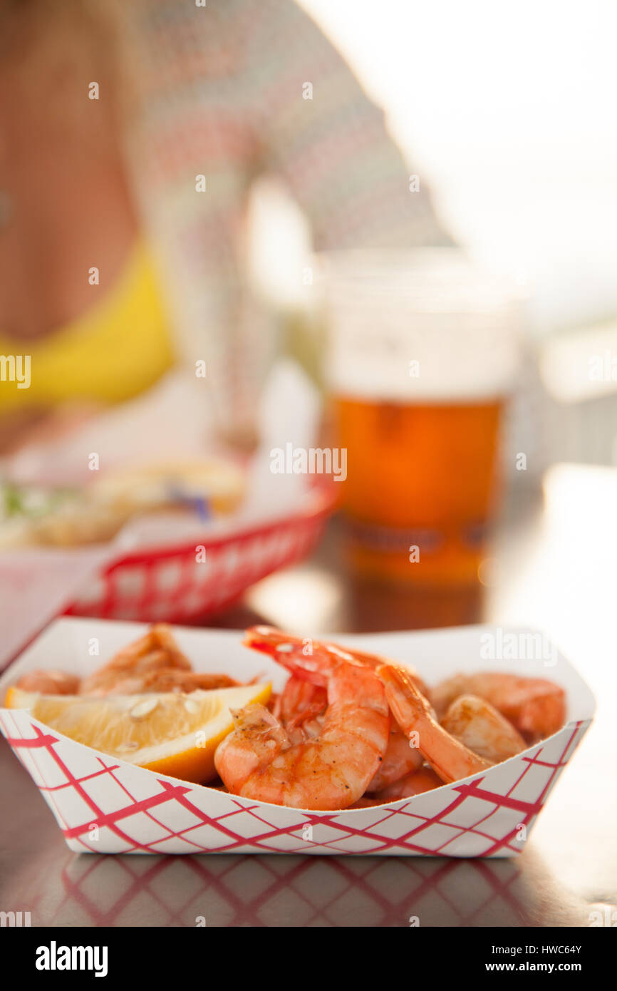 seafood to go - Stock Image