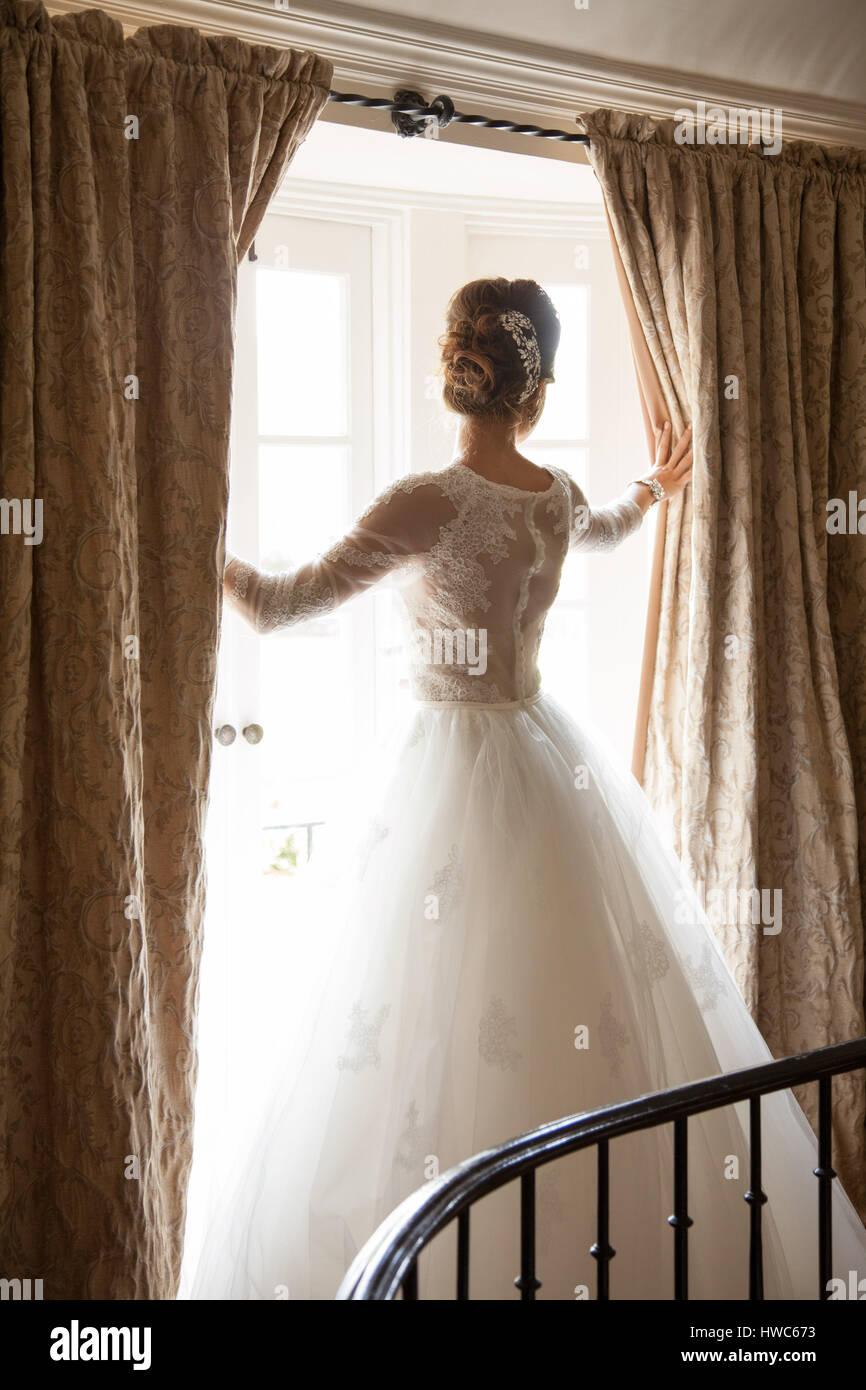 bride on wedding day - Stock Image