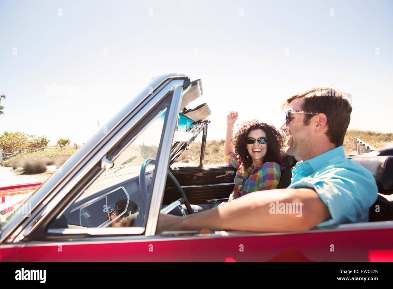 couple on roadtrip - Stock Image