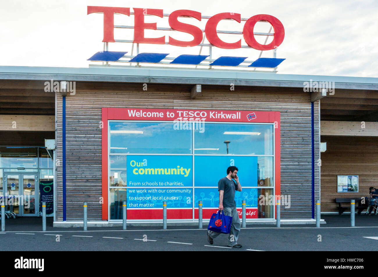 Tesco supermarket branch in Kirkwall on Mainland, Orkney. - Stock Image