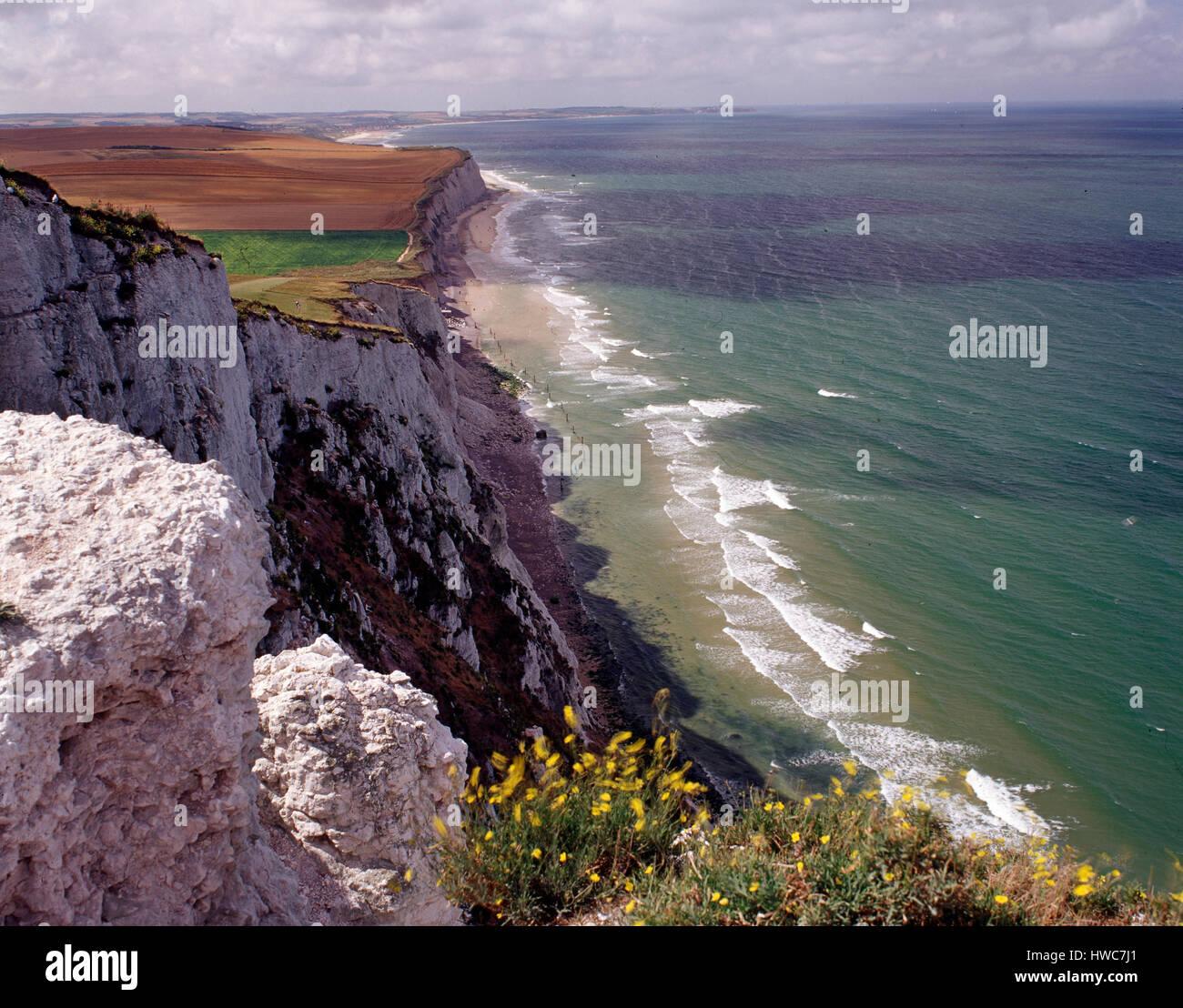 Cap Blanc Nez, Pas de Calais, France. - Stock Image