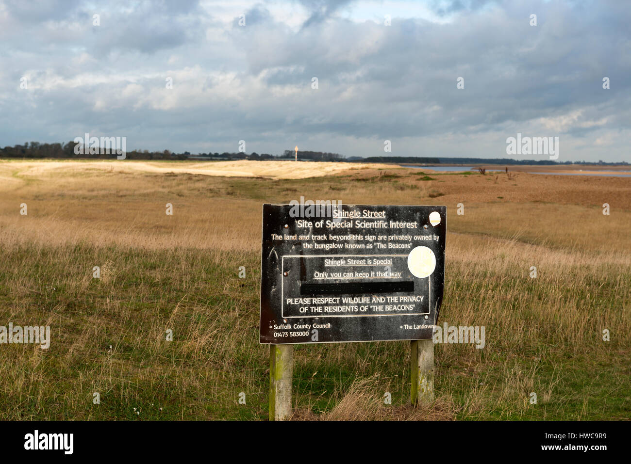 Shingle Street Site of Special Scientific Interest (SSSI) Suffolk, UK. - Stock Image