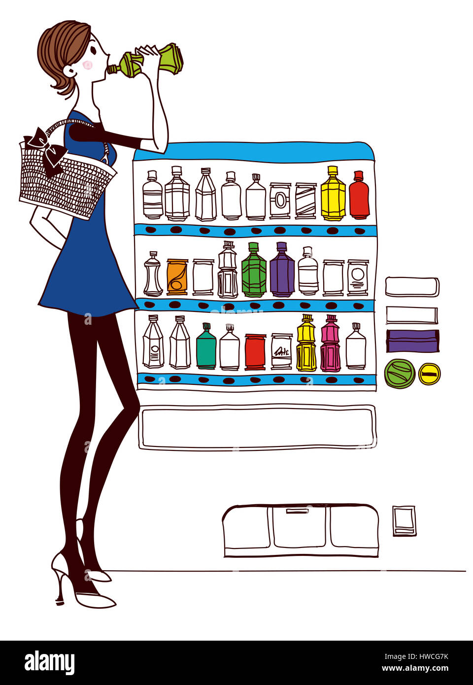 Art Bottle Casual Clothing Choice Color Stock Photo