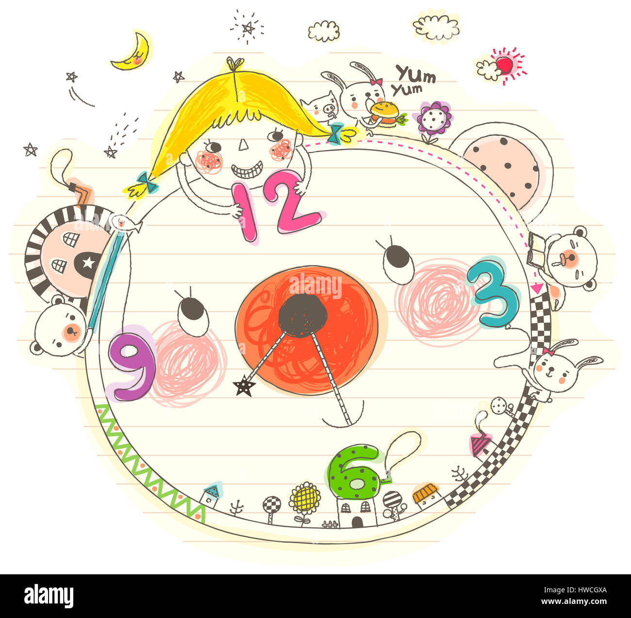 Animal Themes Art Product Childhood Clock Cloud Color Image