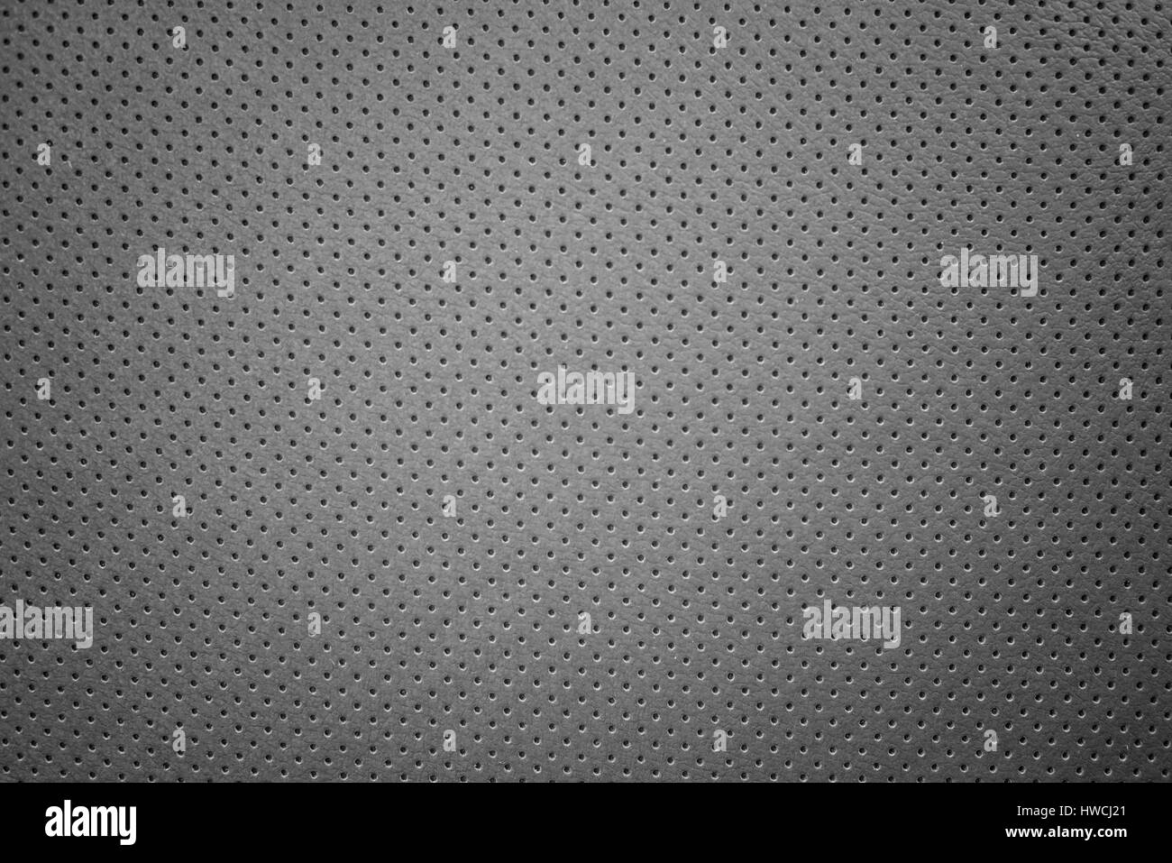 Leather with perforations - Stock Image