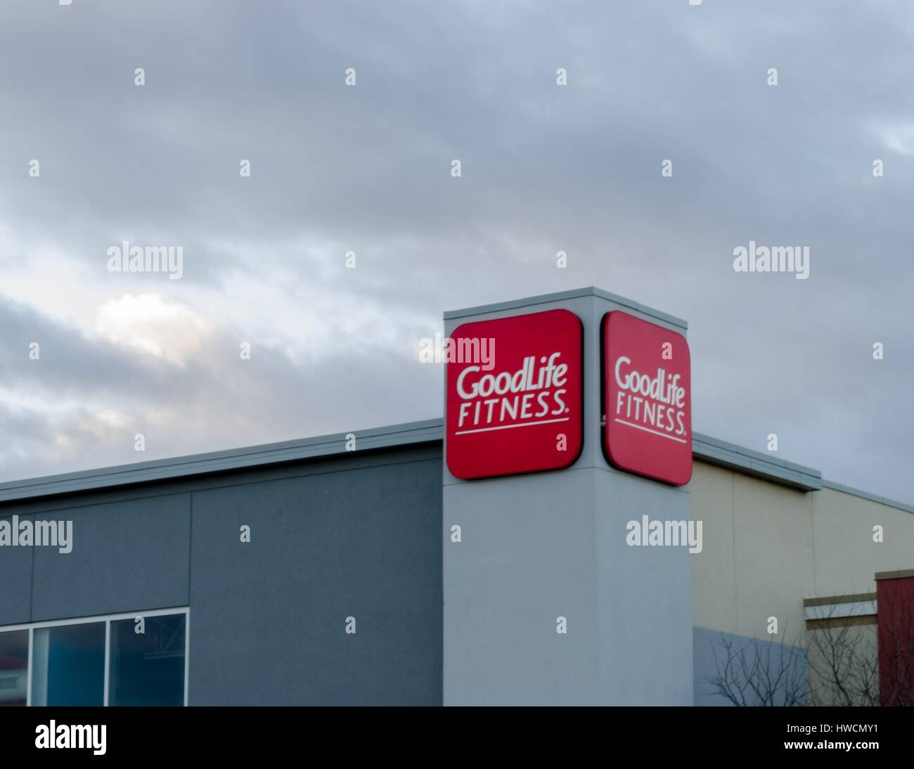 The Goodlife Fitness Logo On A Retail Store In Calgary Alberta