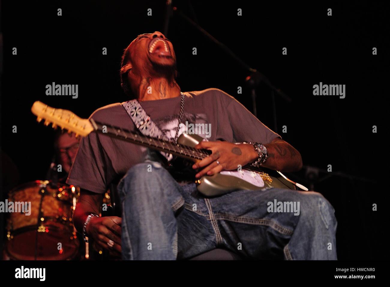 Eric Gales, (aka Raw Dawg) (born October 29, 1974, Memphis Tennessee,Blues-rock, hard rock, blues, heavy metal,Musician, Stock Photo