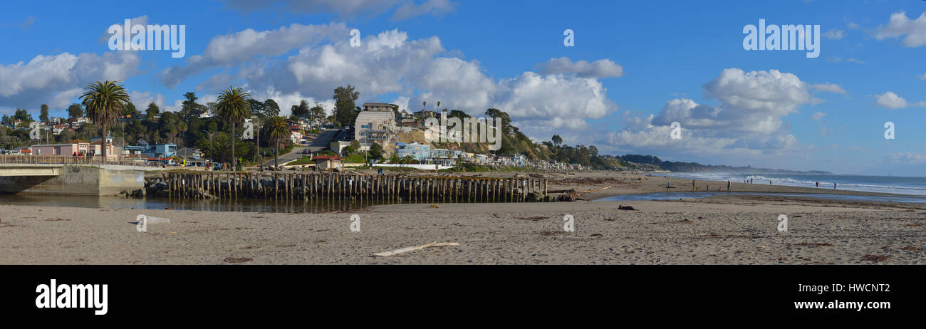 Seacliff State Beach, Aptos CA - Stock Image