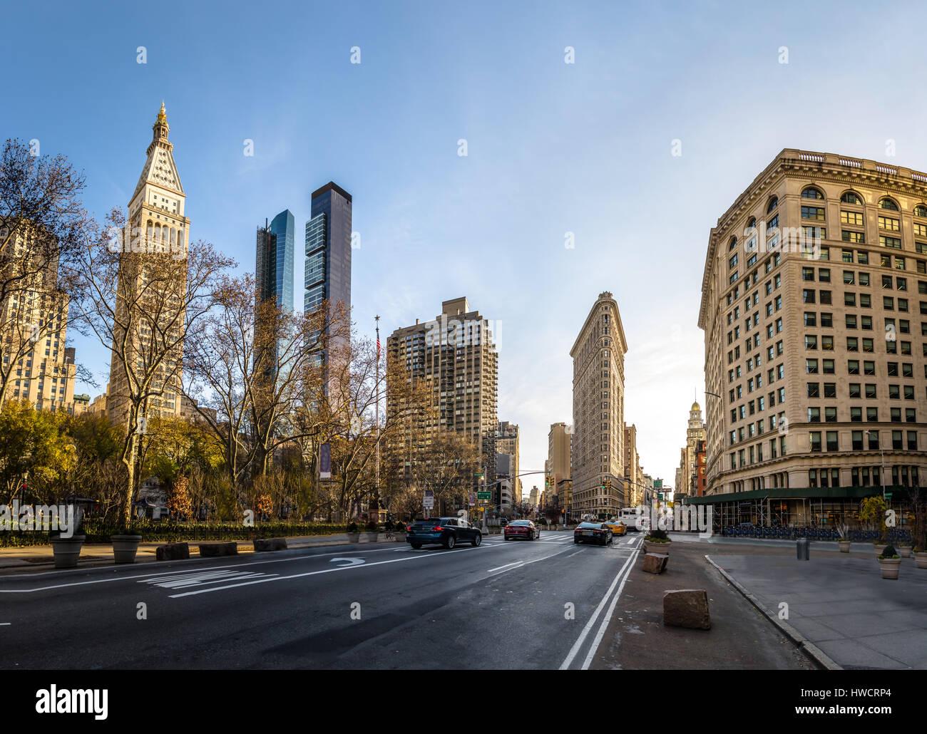 Buildings around Madison Square Park - New York City, USA - Stock Image