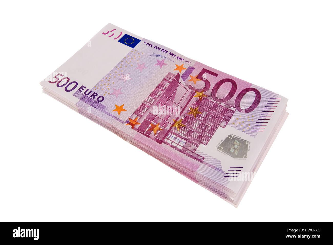 500th euro of notes, 500er Euro Scheine Stock Photo