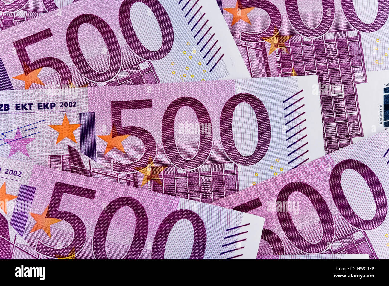 500th euro of notes, 500er Euro Scheine Stock Photo