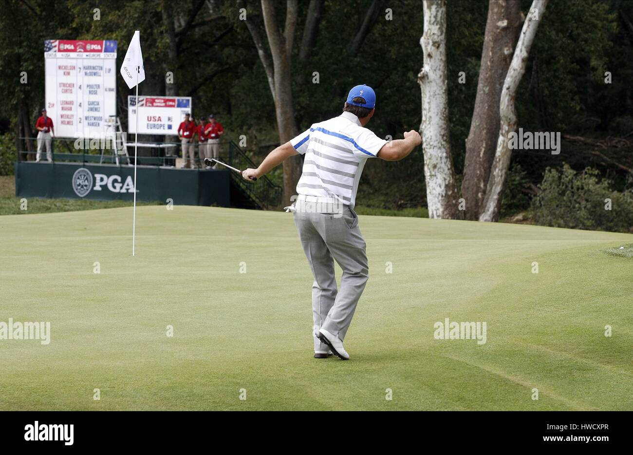 GRAEME MCDOWELL SINKS BIRDIE EUROPE LOUISVILLE KENTUCKY USA 21 September 2008 - Stock Image