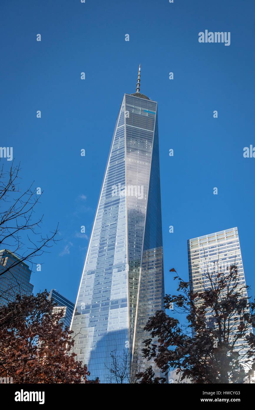 One World Trade Center at Lower Manhattan - New York, USA - Stock Image