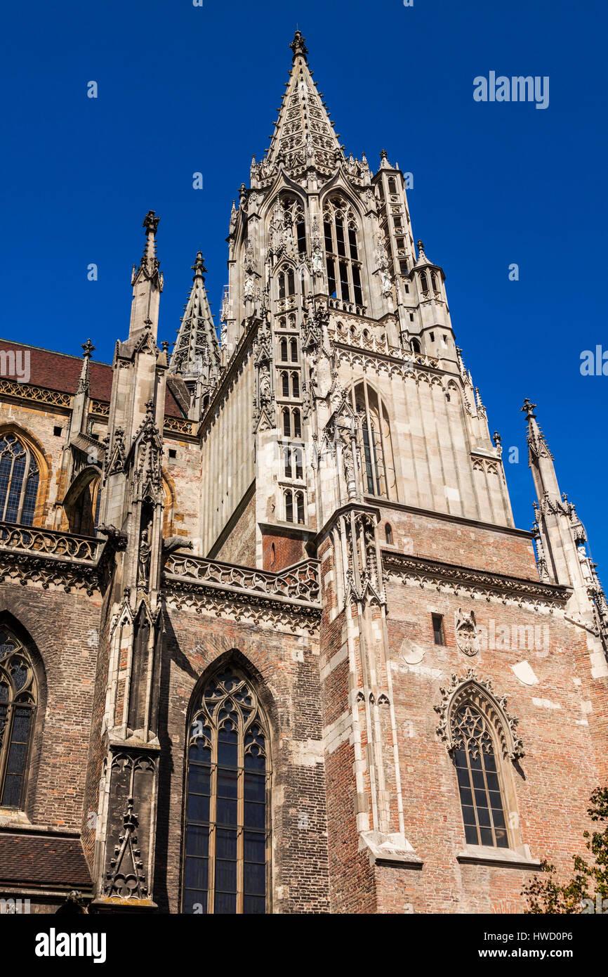 Monumental Ulm Minster. Ulm, Baden-Wurttemberg, Germany. Stock Photo