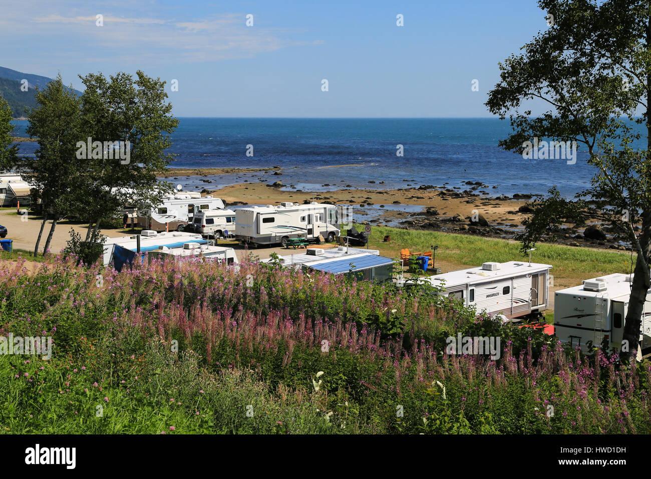 Camping Municipale de St-Siméon - Stock Image