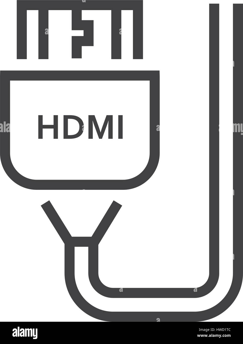 hdmi adapter line icon stock vector image art alamy https www alamy com stock photo hdmi adapter line icon 136125820 html