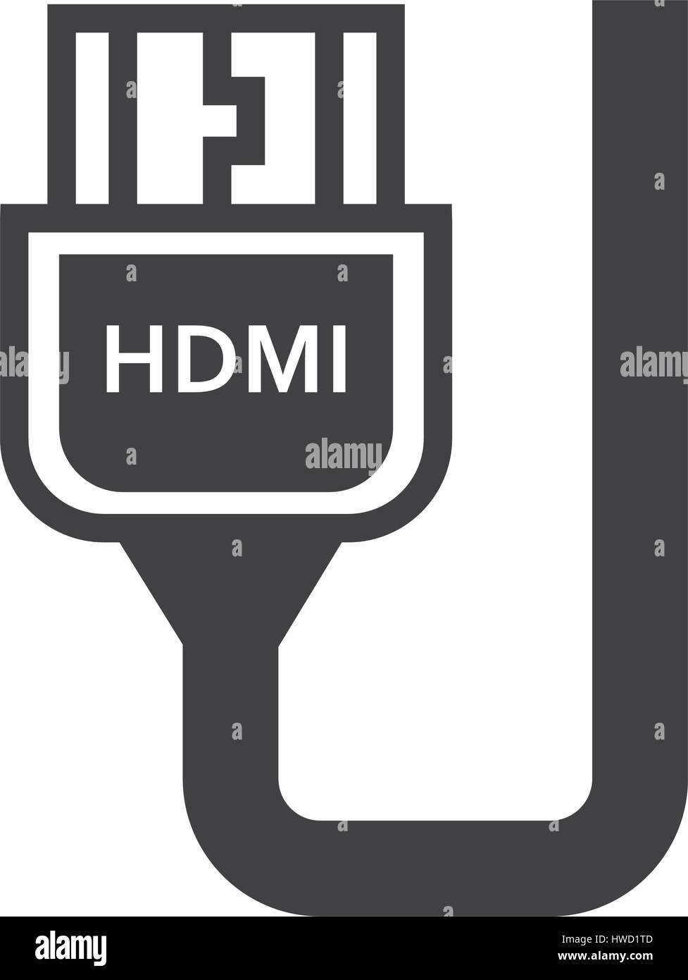 hdmi adapter black icon stock vector image art alamy alamy
