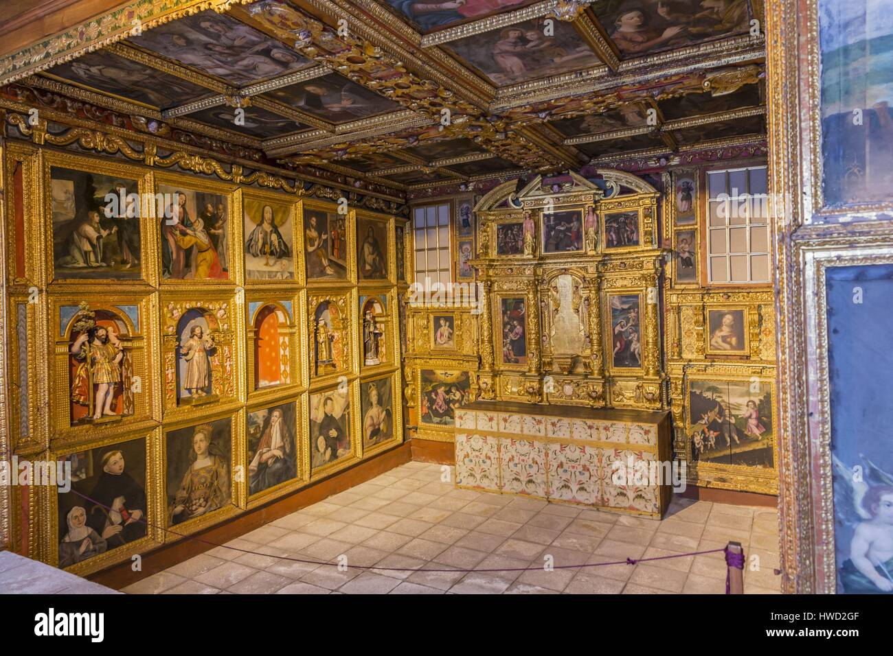 Portugal, Douro, Lamego, northern region, district of Viseu, Museum in the former episcopal palace, Saint-Jean-Baptiste - Stock Image