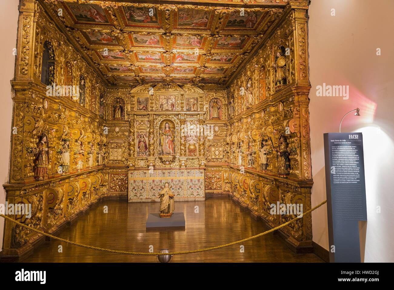 Portugal, Douro, Lamego, northern region, district of Viseu, Museum in the former episcopal palace, Santa Teresa - Stock Image