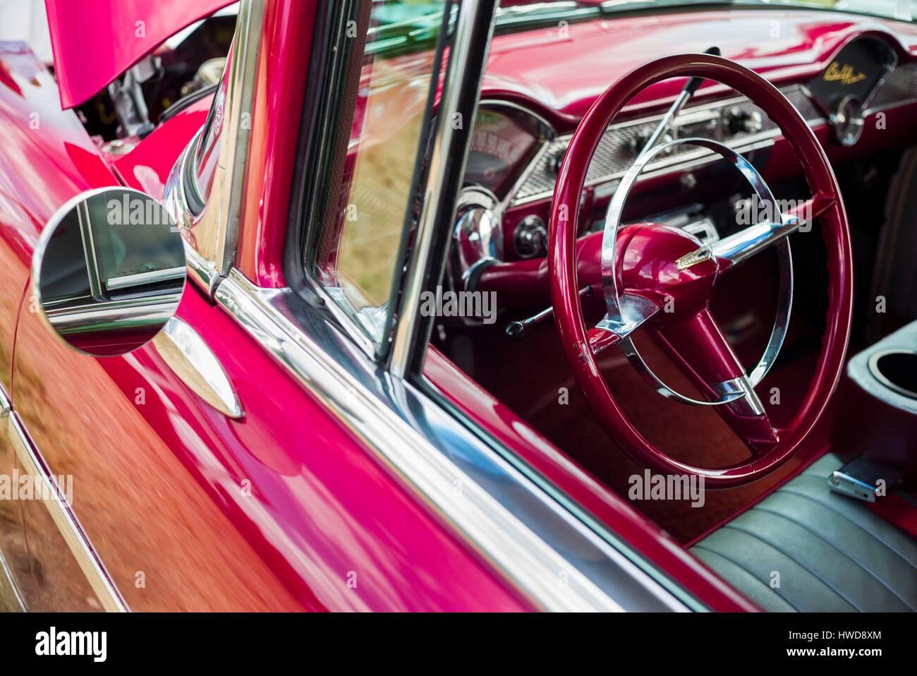 United States, Massachusetts, Cape Ann, Gloucester, Antique Car Show ...