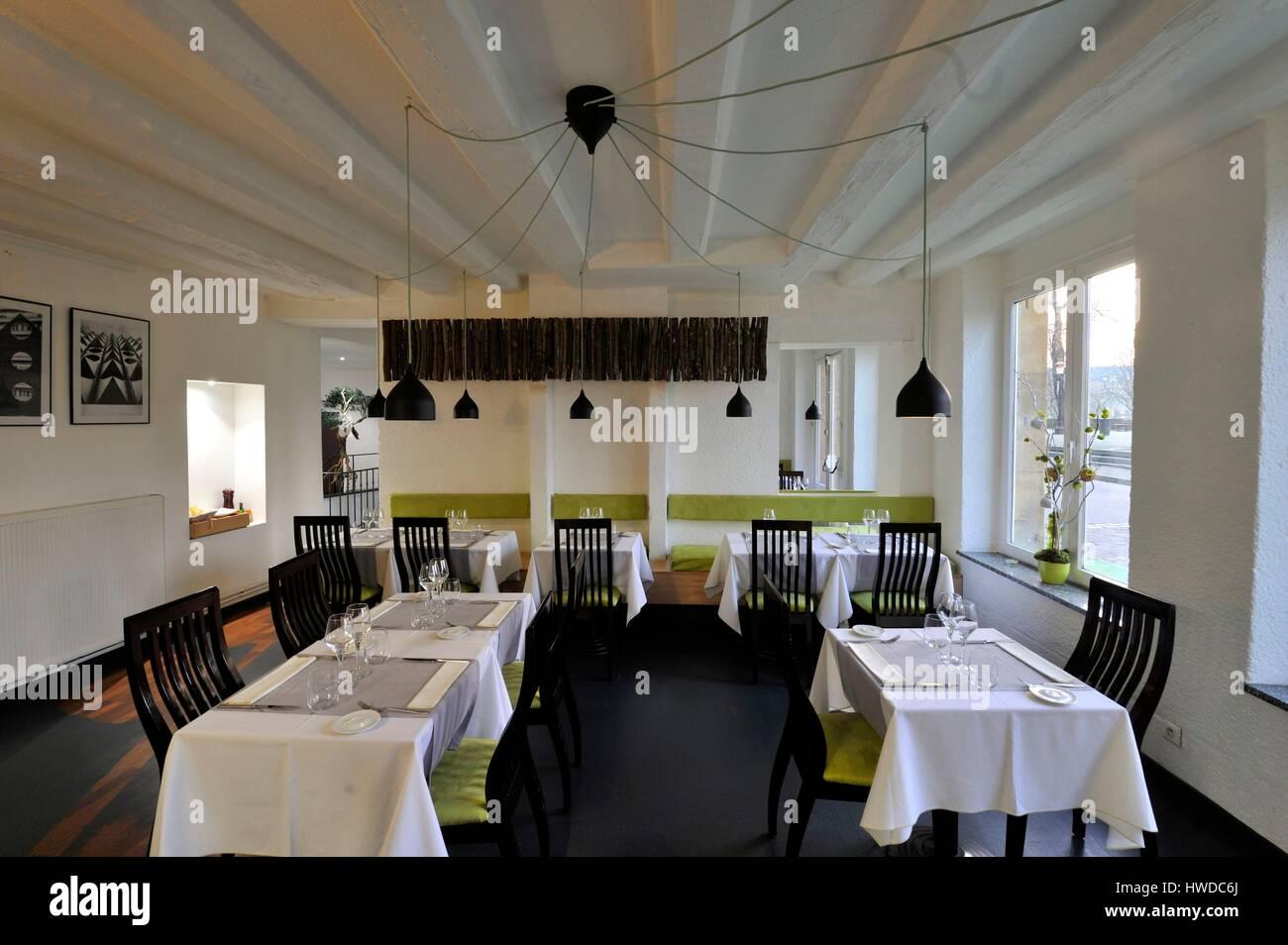 France moselle metz le jardin des chefs restaurant 33 quai felix stock photo 136133946 alamy - Restaurant le jardin de bellevue metz ...