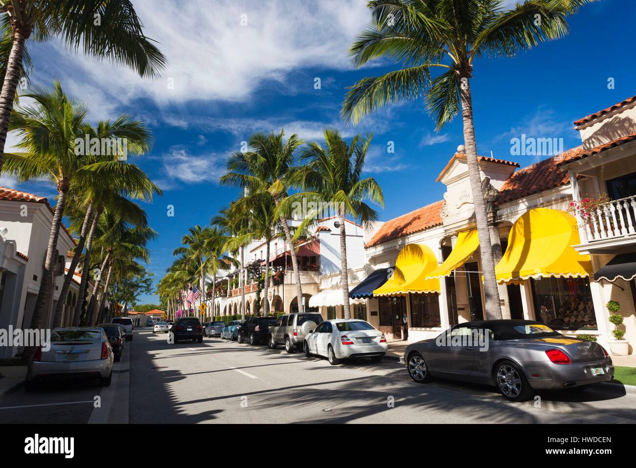 United States, Florida, Palm Beach, Worth Avenue Stock Photo
