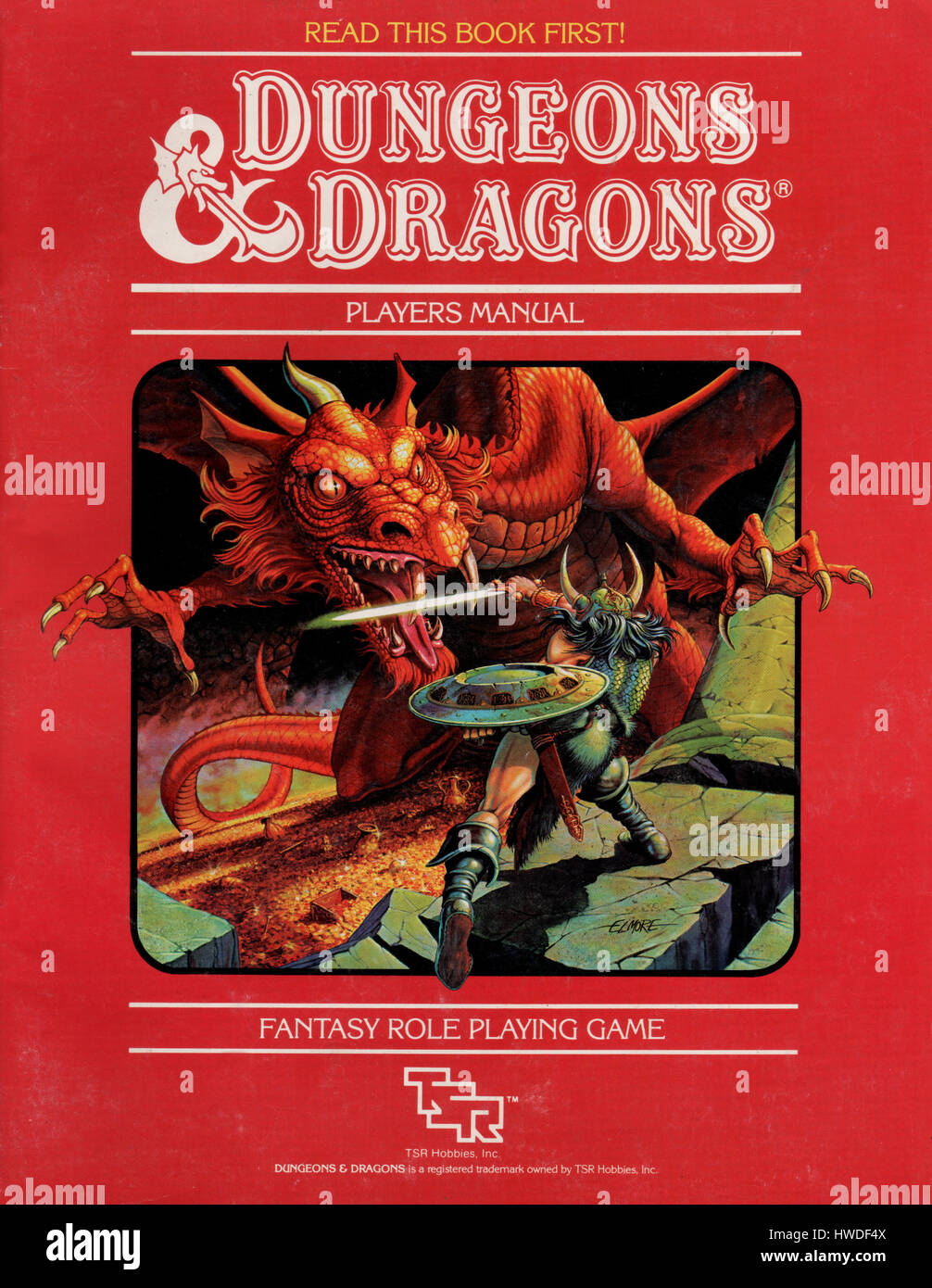 Dungeons and Dragons dungeon players manual book published as part of a D&D  starter pack in 1983. The game was designed by Gary Gygax and Dave Arneson  in ...