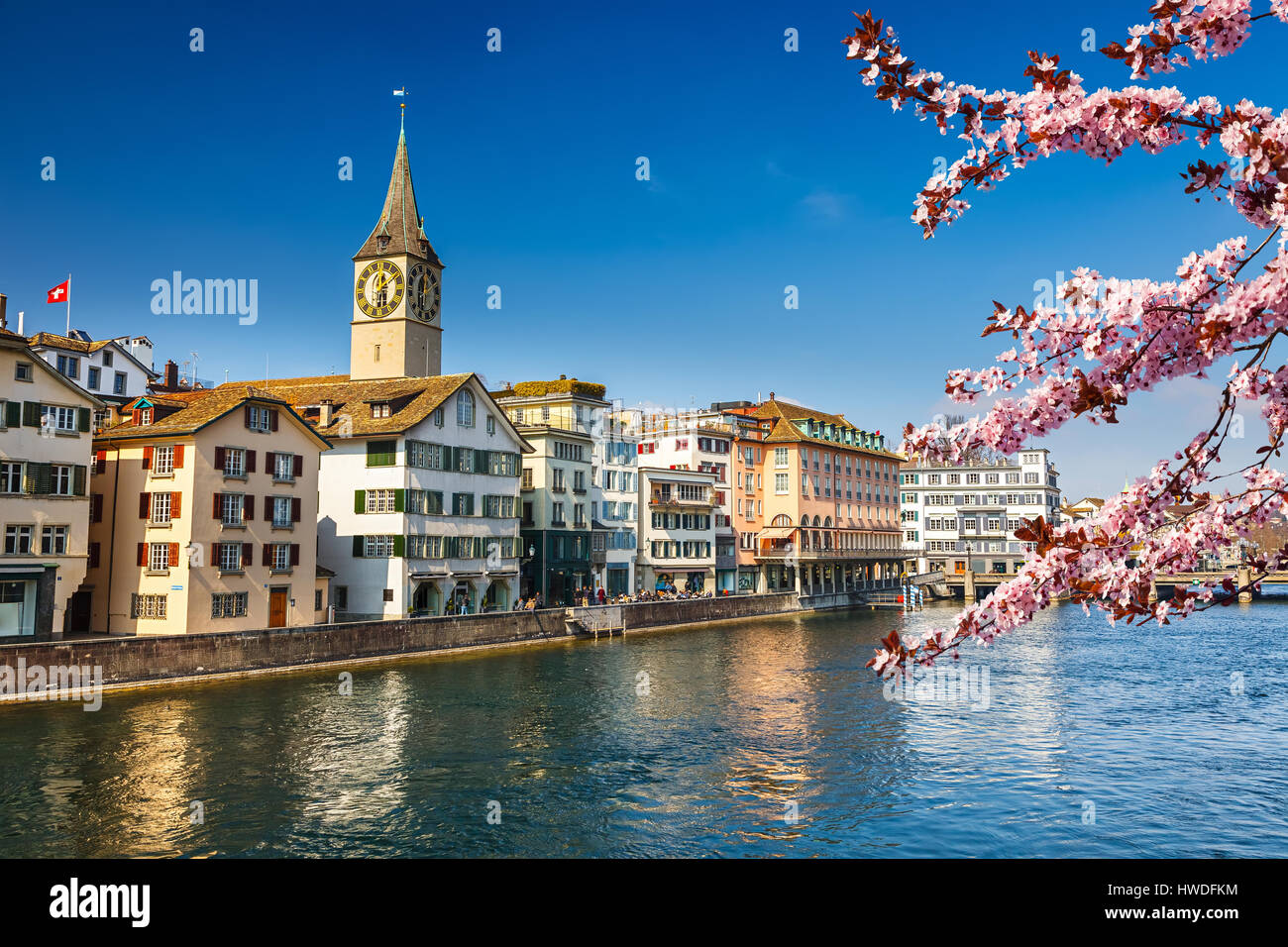 Zurich at spring - Stock Image