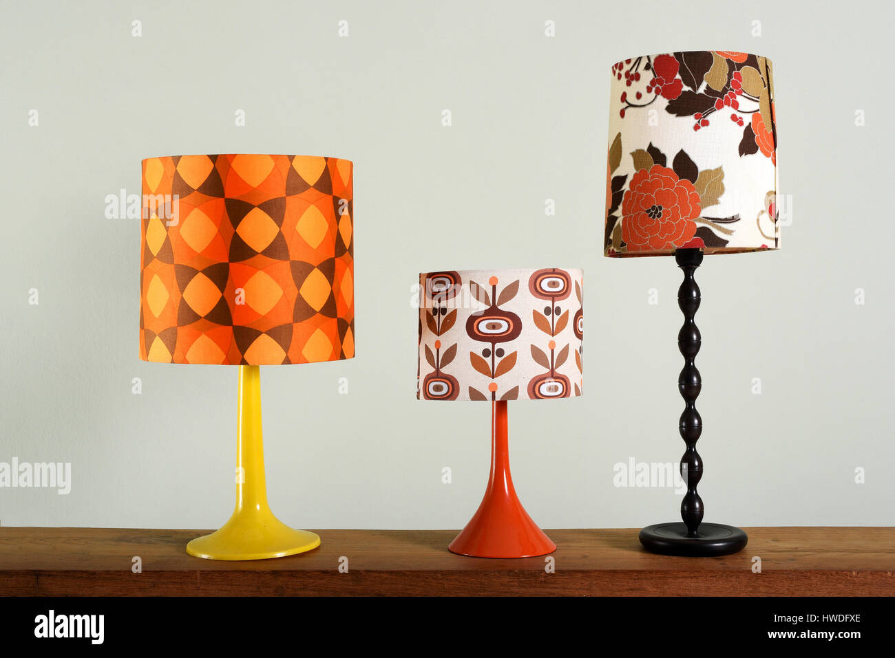 Still Life Collection Of Vintage Decorative Lamps Three