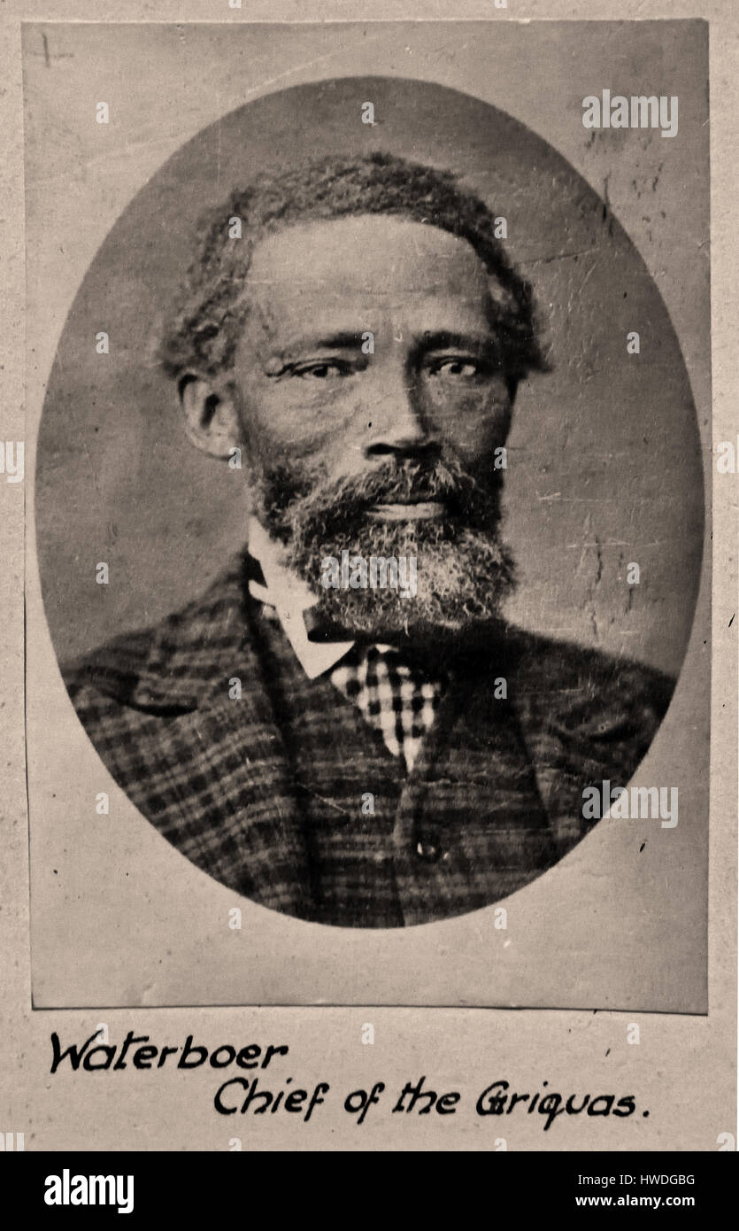 Nicolaas Waterboer ( Leader of the Griqua 1870-1880 ) Dutch Diaspora The spoke Dutch - Afrikaans ( read the Dutch - Stock Image