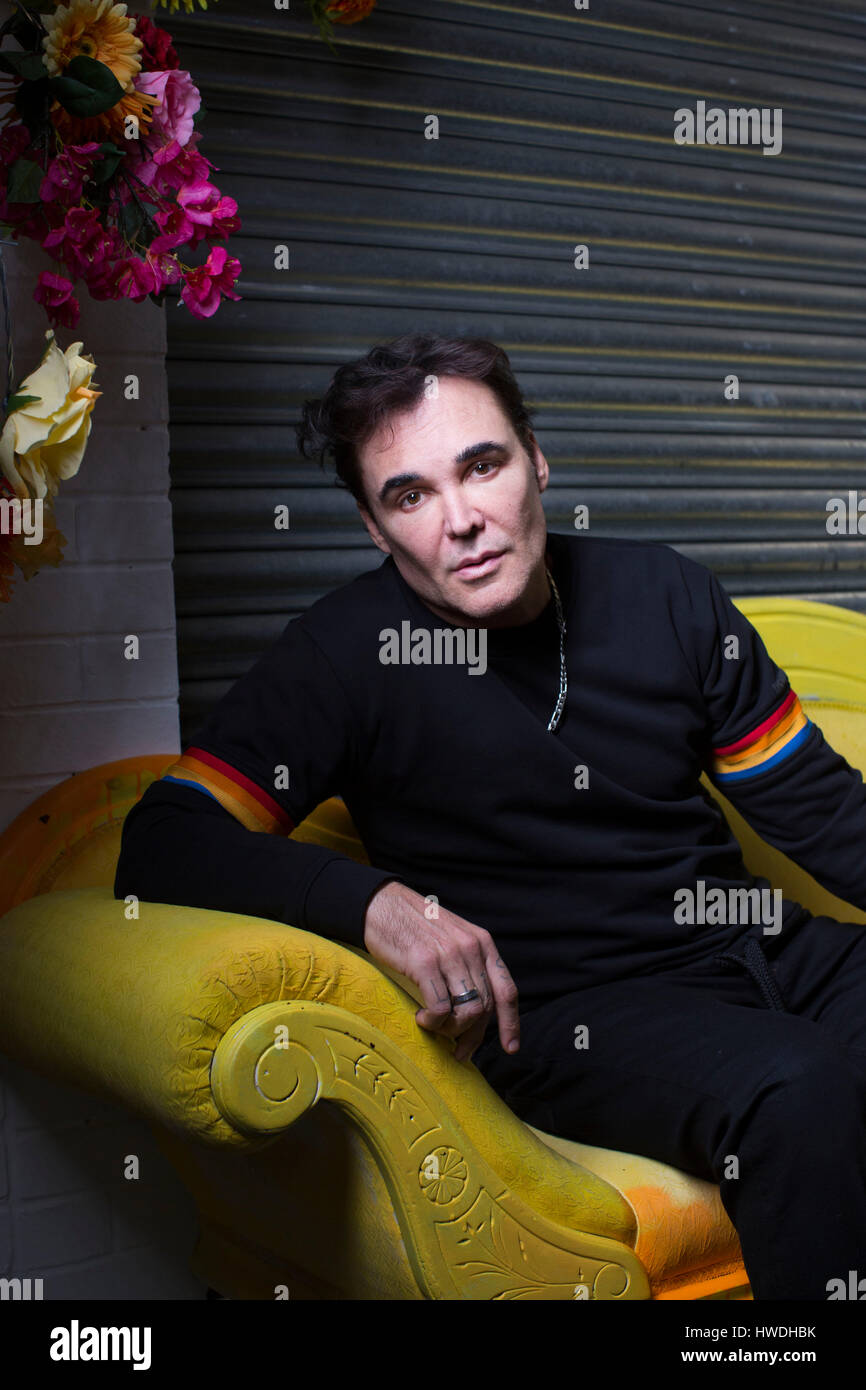 Photographer and director David LaChapelle who has collaborated with Diesel on 'Make Love Not Walls'  campaign, - Stock Image