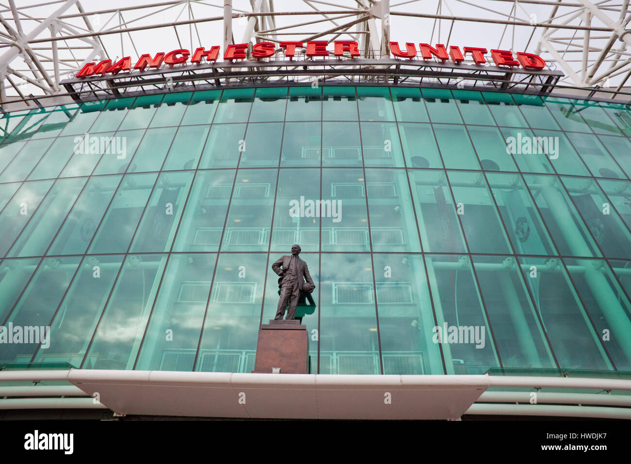 Old Trafford football stadium - Stock Image