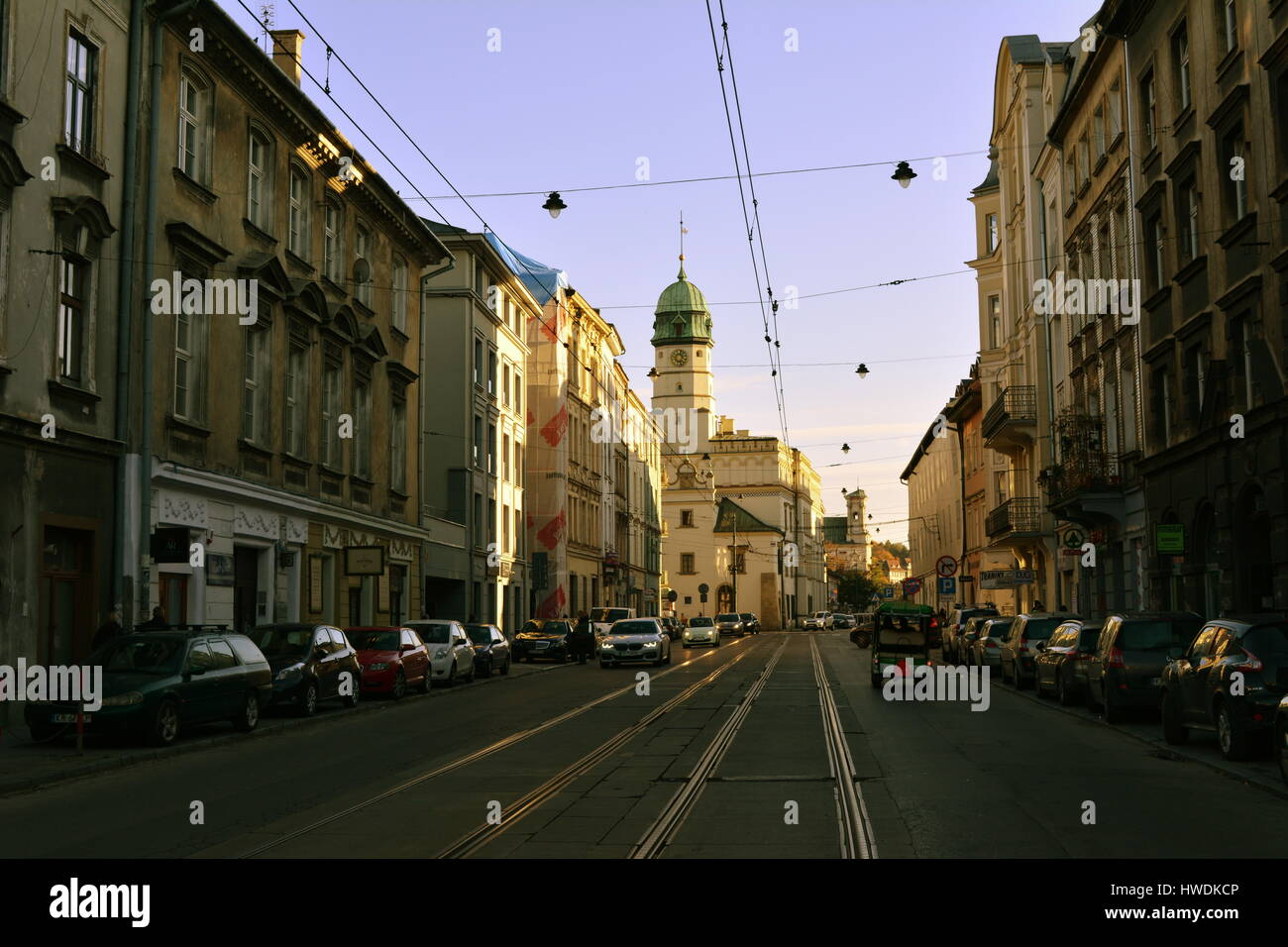Street in Krakow, Poland - Stock Image