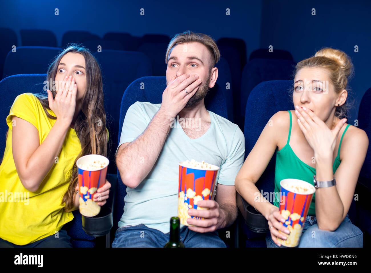 Friends in the cinema Stock Photo