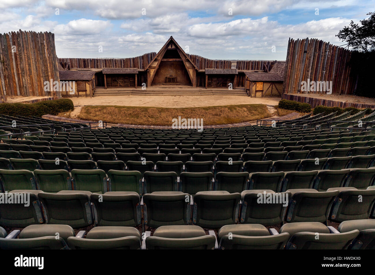 NC00636-00...NORTH CAROLINA - The Lost Colony Theater at Fort Raleigh National Historic Site on Roanoke Island - Stock Image