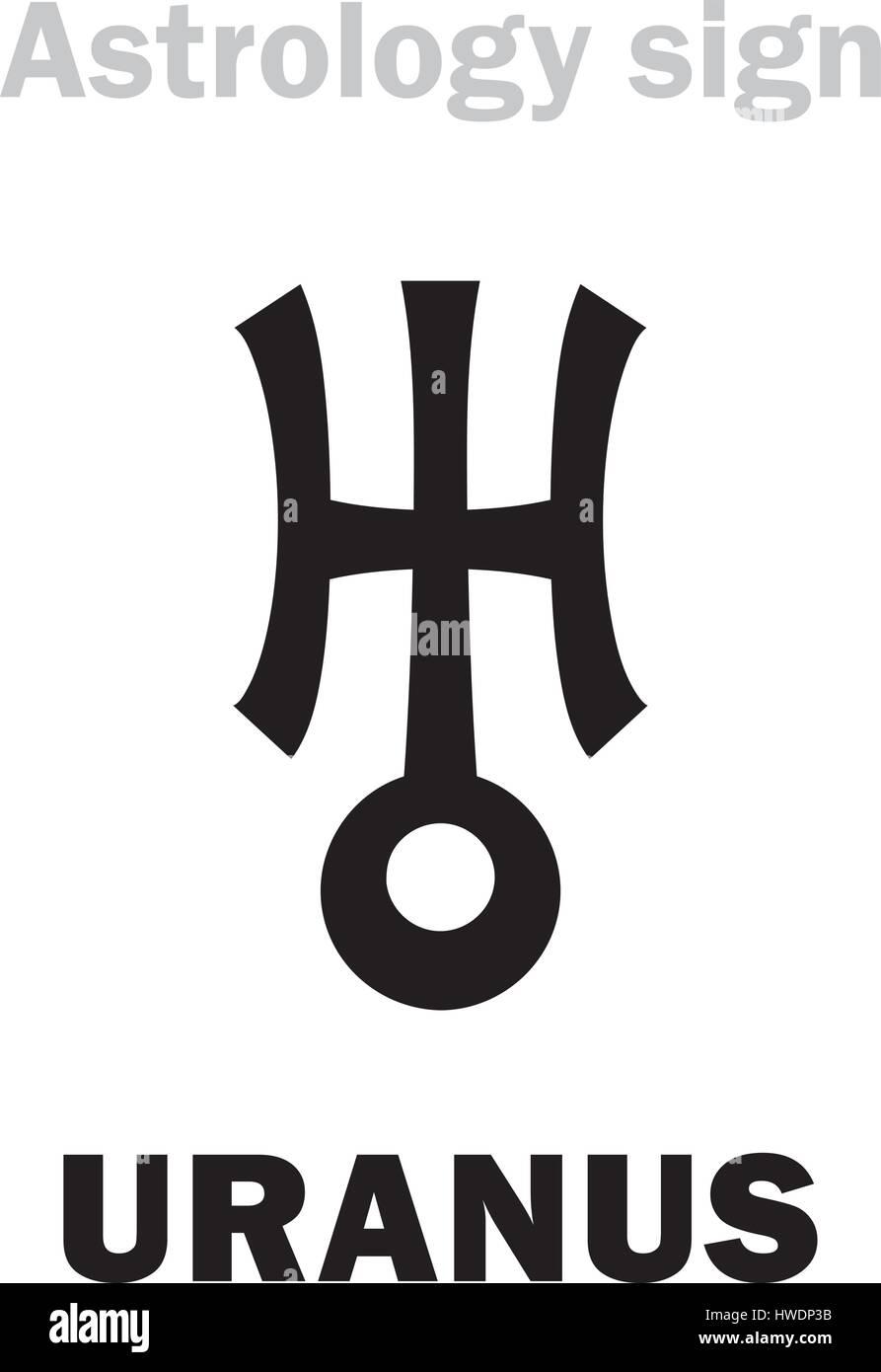 Astrology Alphabet Uranus Herschel Higher Global Planet Stock