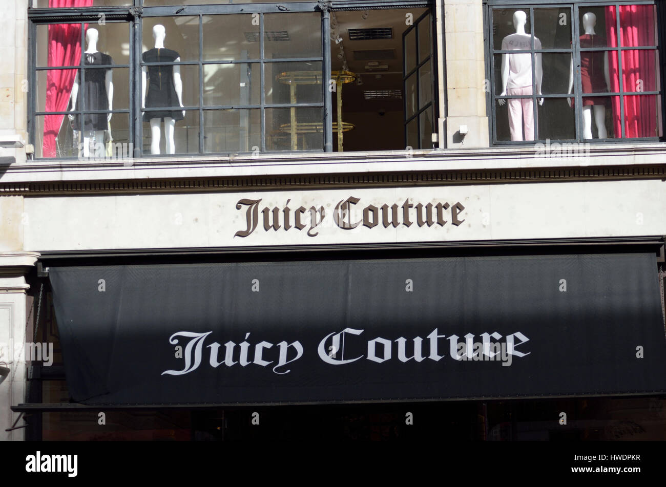 Juicy Couture fashion store in Regents St, London, UK. - Stock Image