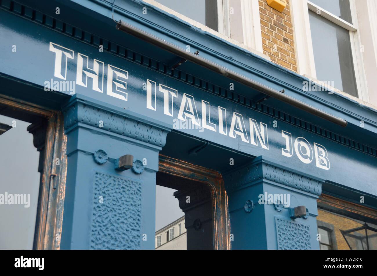 The Italian Job pub in All Saints Road, Notting Hill, London, UK. - Stock Image