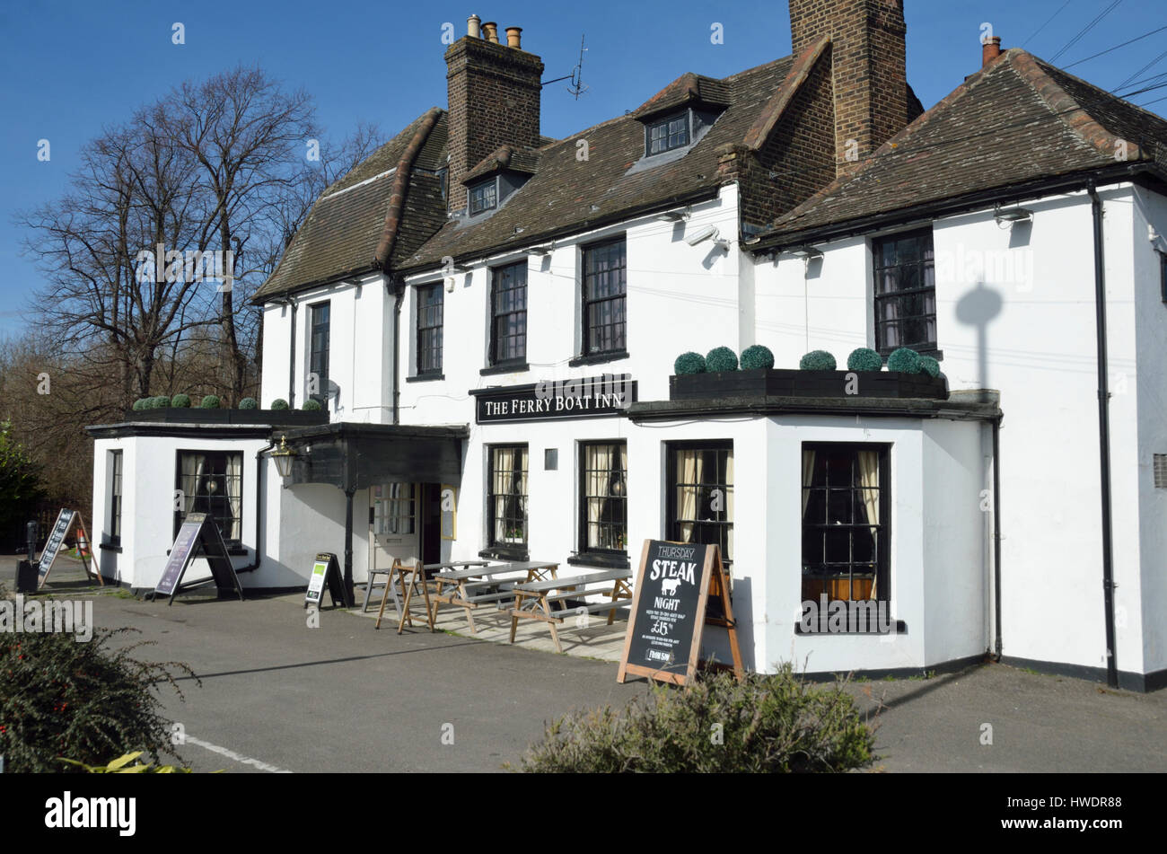 The Ferry Boat Inn pub in Tottenham Hale, London, UK. - Stock Image