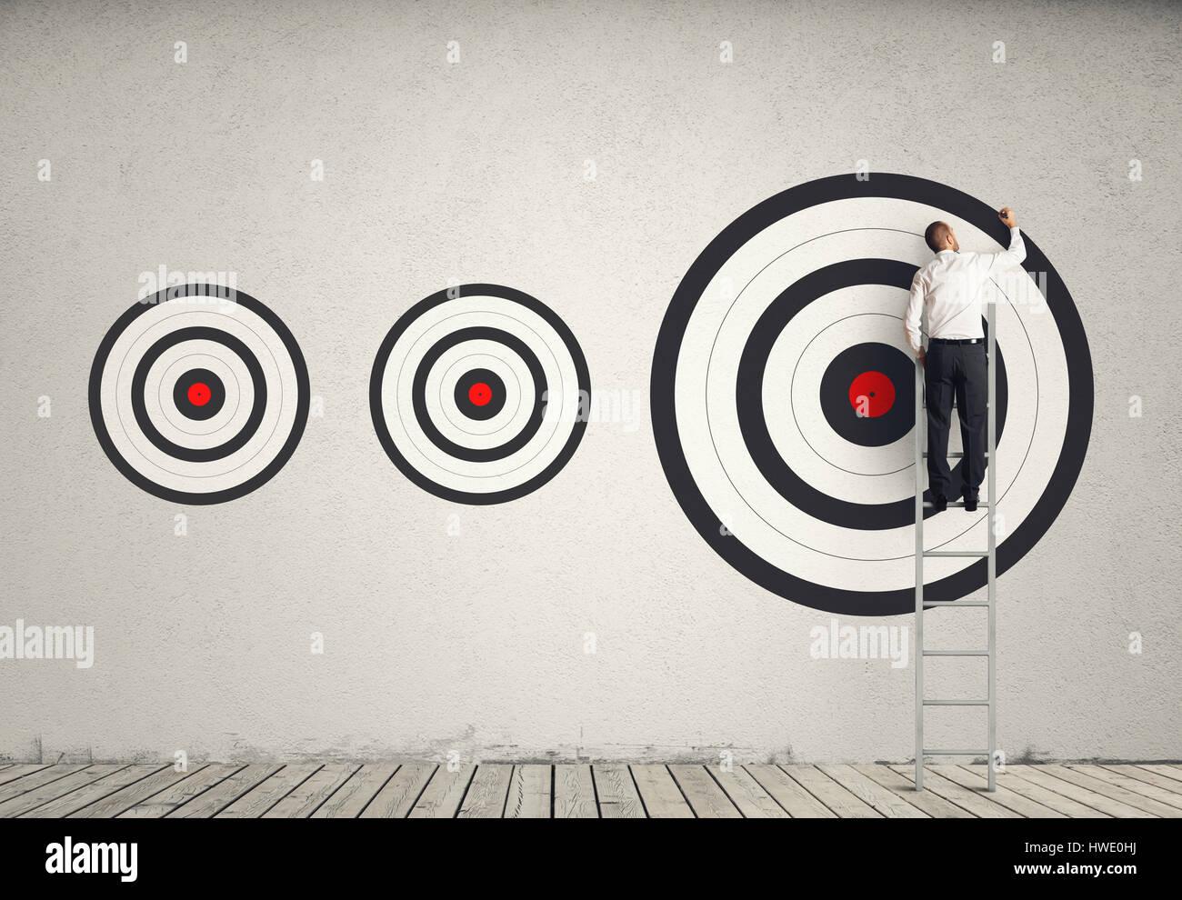 Hitting bigger business target - Stock Image