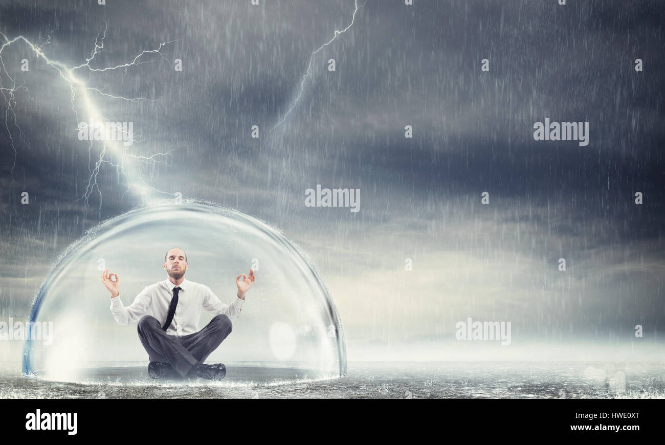 Protect the financial and economic serenity - Stock Image