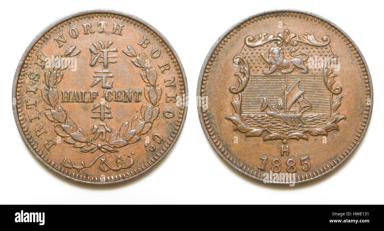 British North Borneo Coin Stock Photo 136147173 Alamy