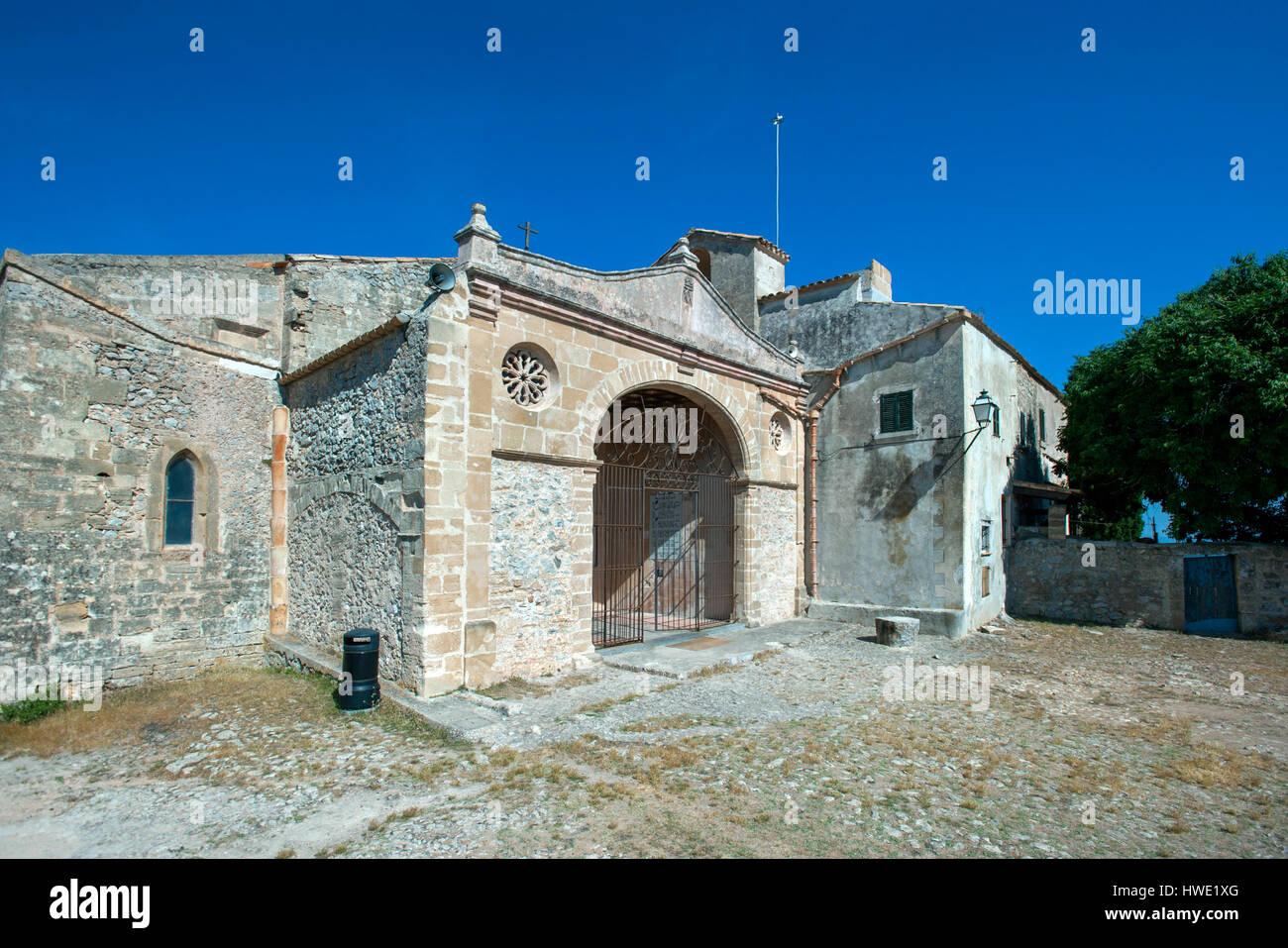Santuari de la Mare de Deu, Puig de Maria, Pollenca, Mallorca, Balearics, Spain - Stock Image