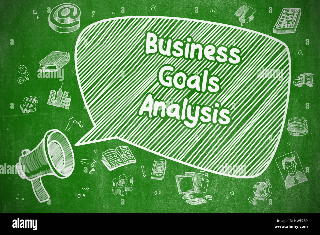 Business Goals Analysis - Business Concept. Stock Photo