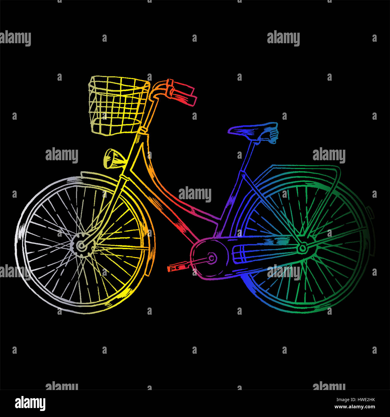 Bicycle with Cart - Stock Image