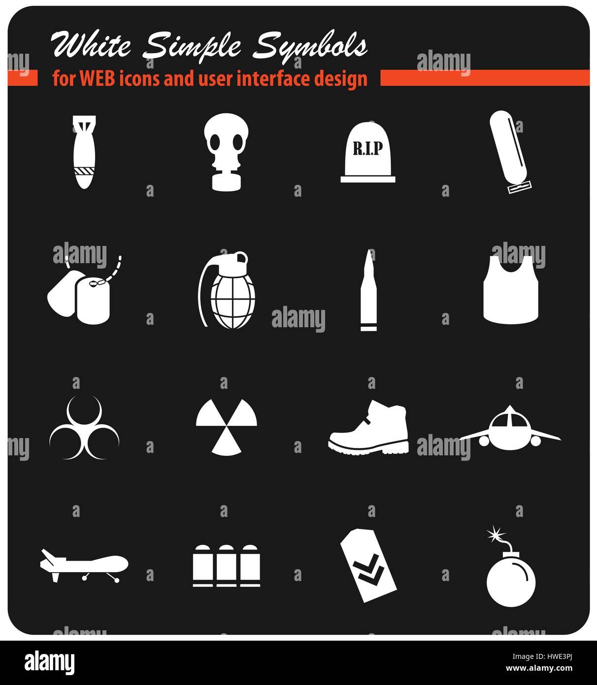 War Symbols Vector Icons User Stock Photos War Symbols Vector
